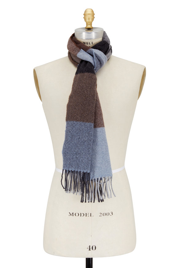 Alex Begg Harris Neutral Wool & Alpaca Scarf