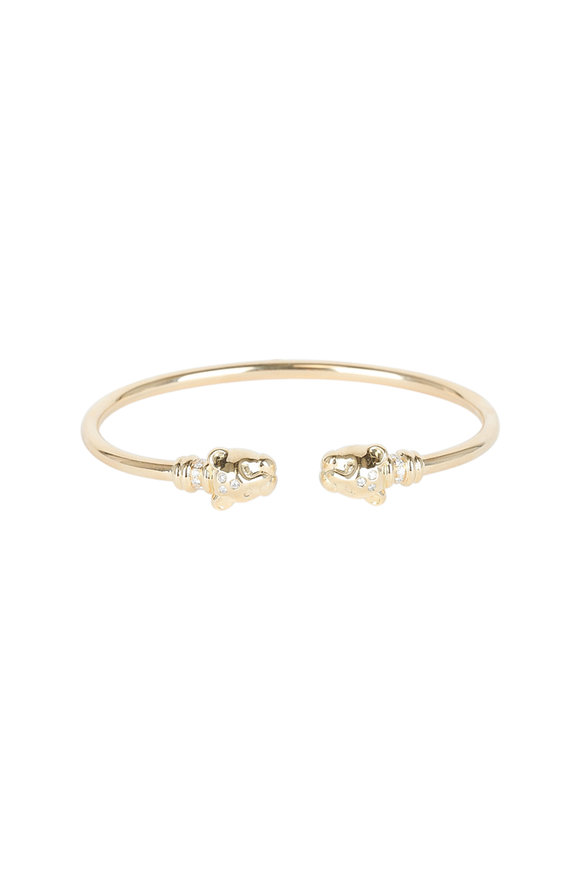 Temple St. Clair 18K Yellow Gold Lion Cub Bellina Bangle