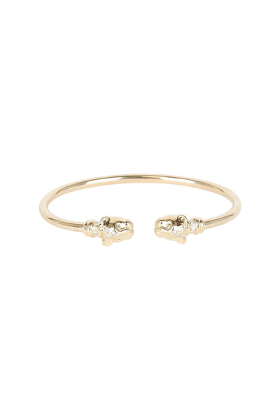 Temple St. Clair - 18K Yellow Gold Lion Cub Bellina Bangle