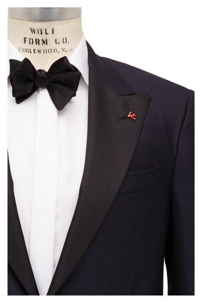 Isaia - Navy Blue Peak Lapel Tuxedo
