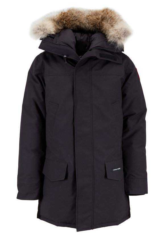 Canada Goose Langford Black Fur Trimmed Hooded Parka