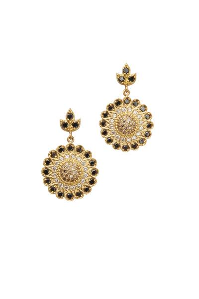 Jamie Wolf - Sunflower Yellow Gold Diamond Earrings