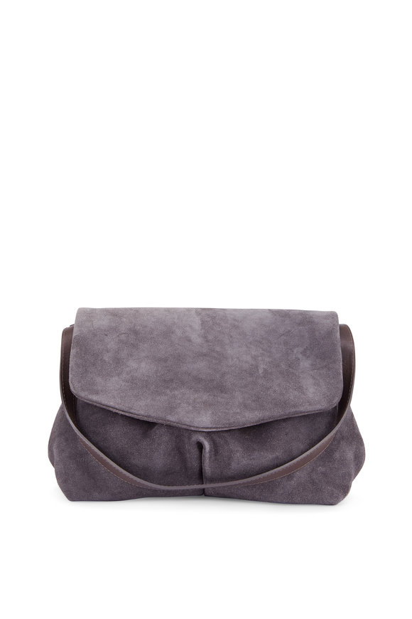 Marsell Puntina Gray Suede Convertible Bag