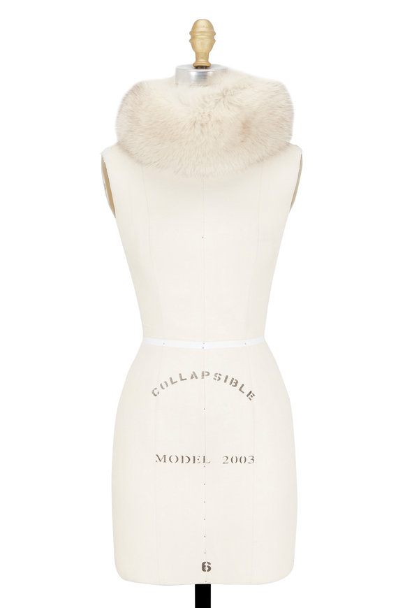 Escada Champagne Mink Fur Collar