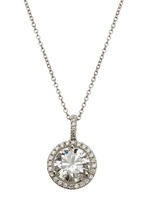 Louis Newman - Platinum Diamond Pendant Necklace