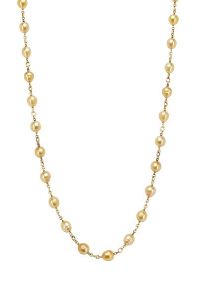 Sylva & Cie - Yellow Gold South Sea Pearl Necklace