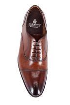 Di Bianco - Light Brown Burnished Leather Cap-Toe Oxford