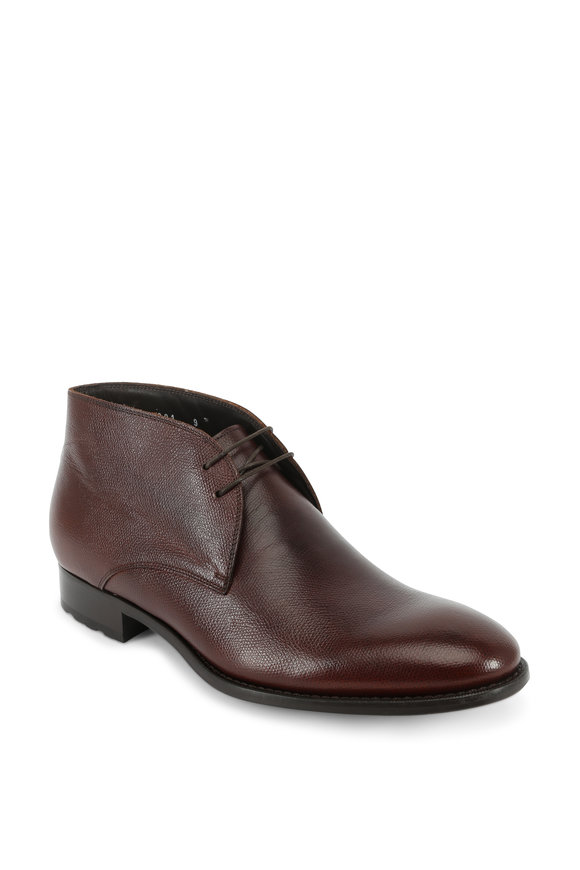To Boot New York Norwalk Brown Textured Leather Chukka Boot