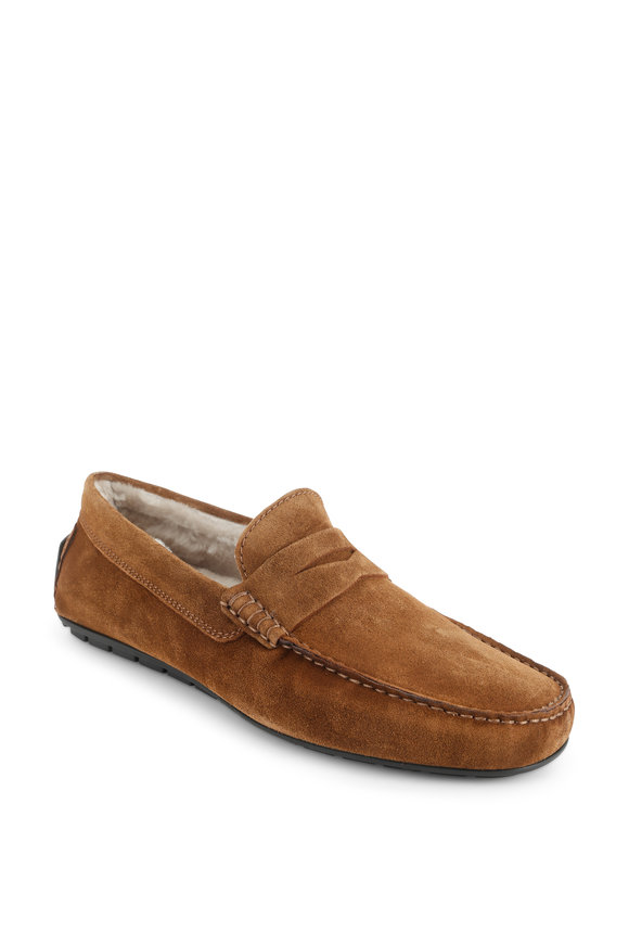 To Boot New York Norse Sigaro Suede Shearling Lined Penny Loafer