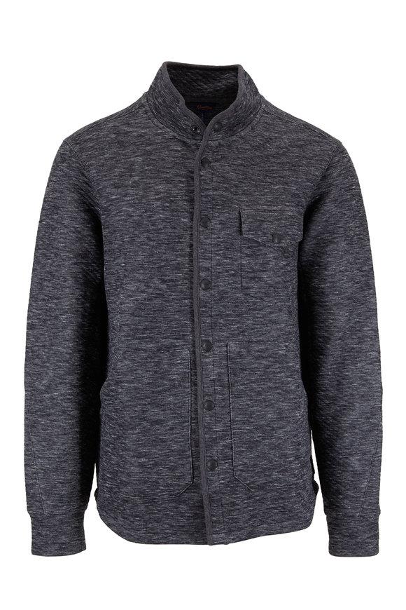 Good Man Brand Gray Microlight Twill Jacquard Shirt Jacket