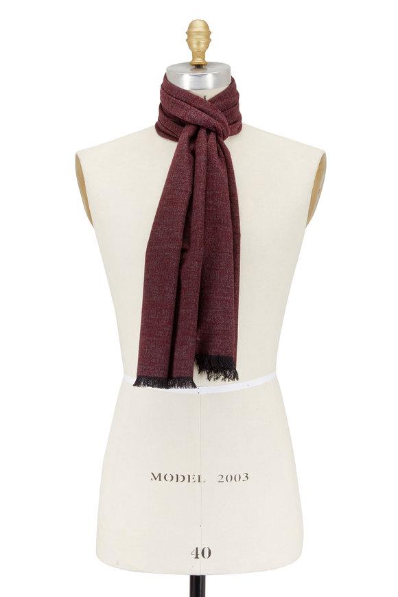 Chelsey Imports Burgundy Silk Scarf
