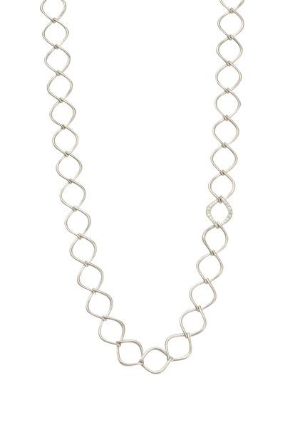 Jamie Wolf - White Gold Aladdin Link Diamond Necklace