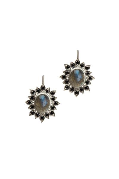 Jamie Wolf - Aladdin Gold Labradorite & Diamond Edged Earrings