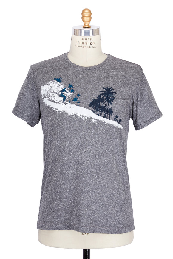 Sol Angeles Charcoal Palm Diamonds Jersey Pocket T-Shirt