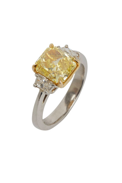 Louis Newman - Yellow Diamond Bridal Ring