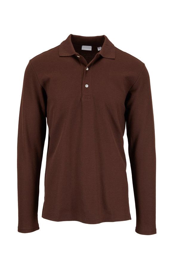 Handvaerk Chocolate Brown Long Sleeve Polo