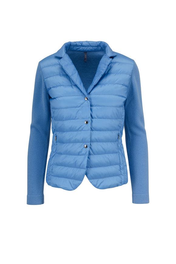 Bogner Sarina Light Blue Contrast Wool Sleeve Jacket