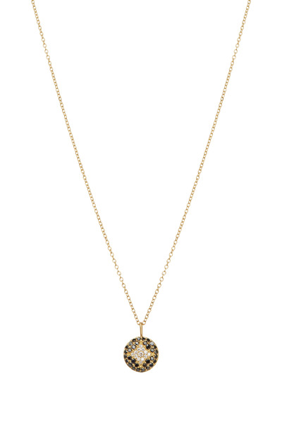 Jamie Wolf - Aladdin Gold Black & White Diamond Disc Necklace