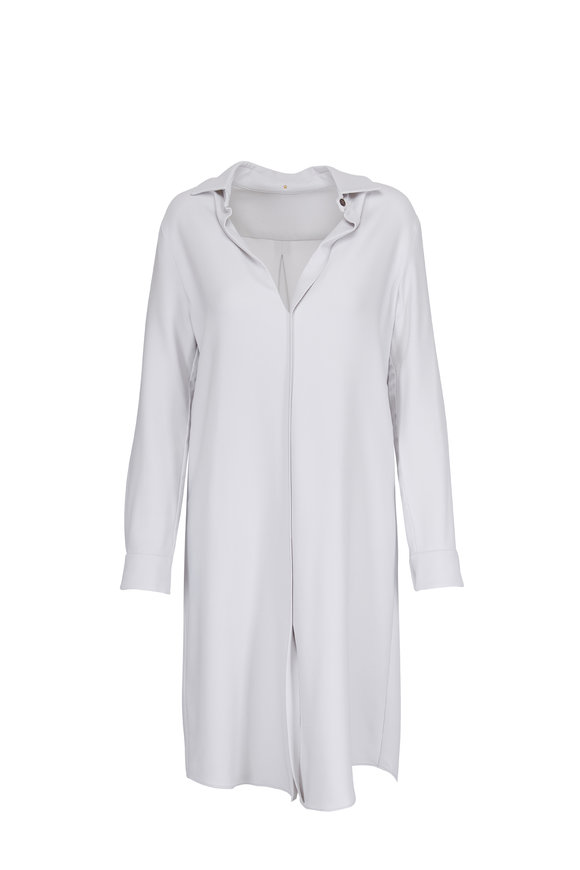 Peter Cohen Oxford Ivory Long Sleeve Popover Dress