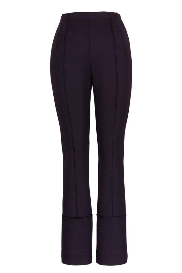 Dorothee Schumacher Black High-Waist Slim Fit Pant