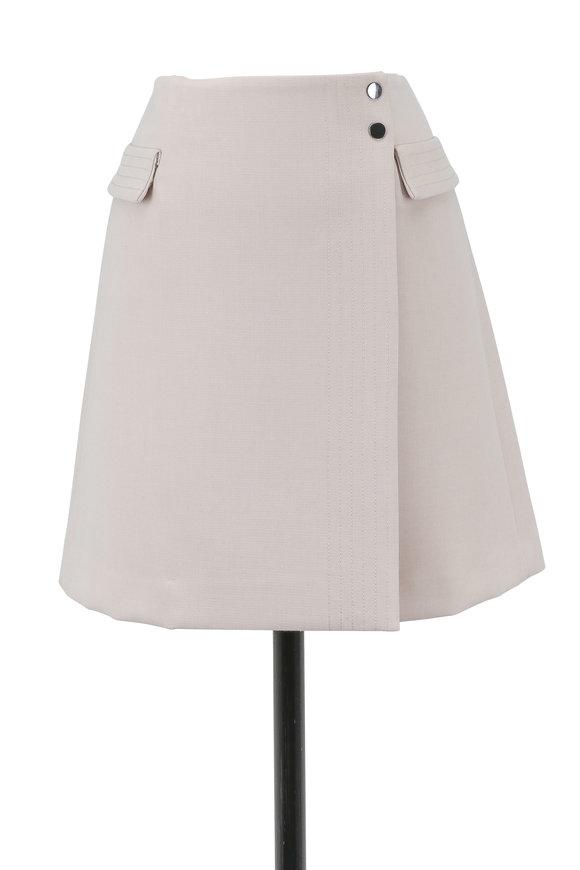 Armani Collezioni Cream Wrap Two Pocket Mini Skirt