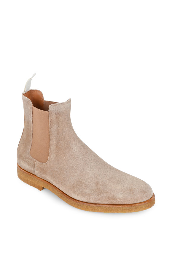Common Projects Tan Suede Chelsea Boot