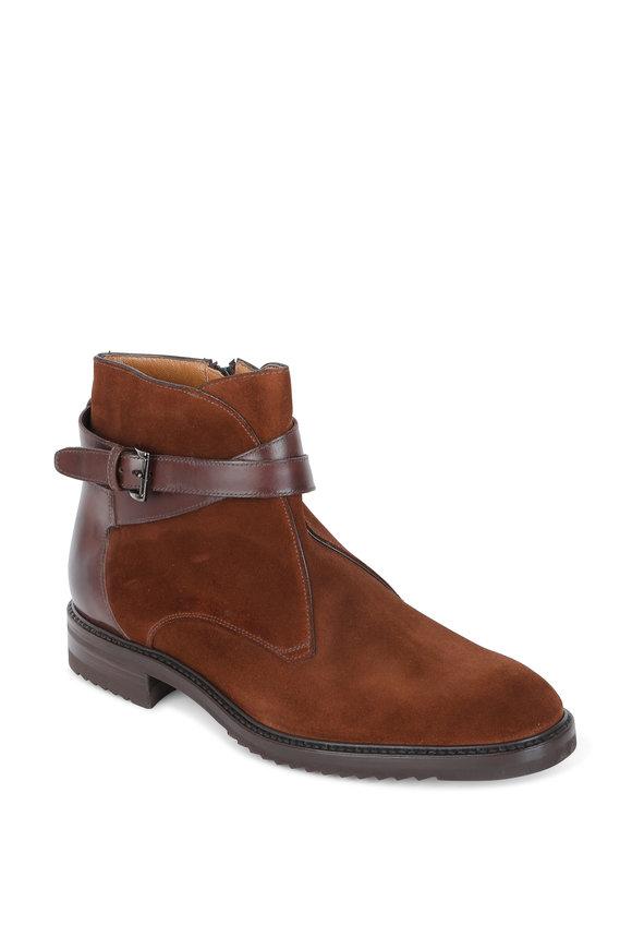 Gravati Polo Brown Suede & Leather Strap Boot
