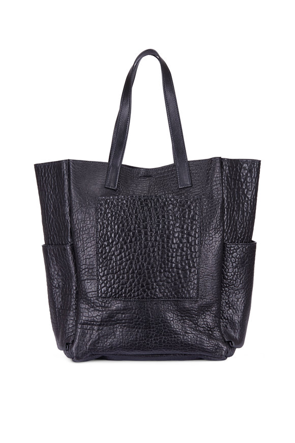 B May Bags Black Washed Lamb Extra Large Tote