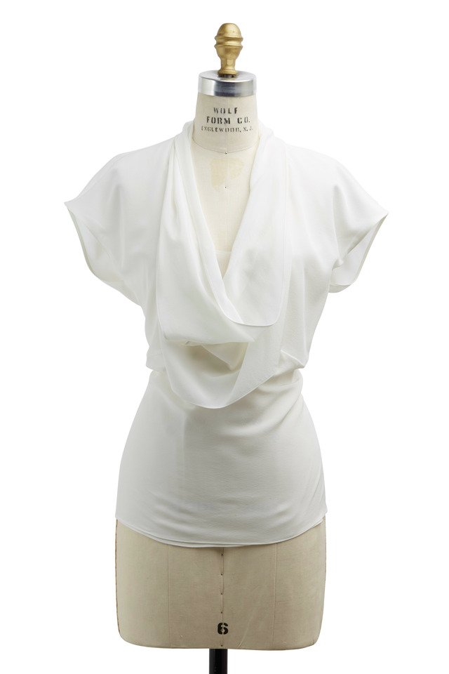 Off-White Silk Top