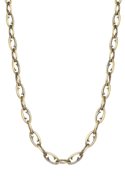 Sylva & Cie - Yellow Gold Thorn Link Necklace