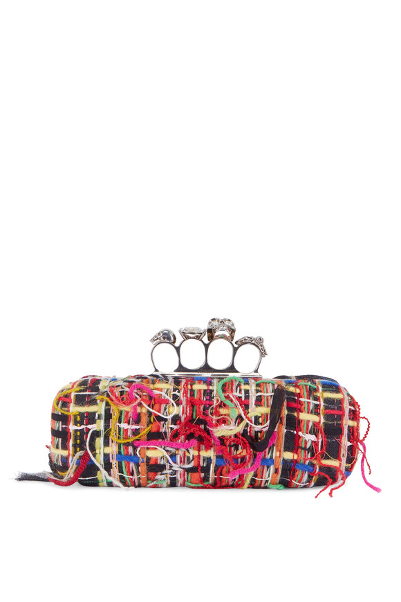 Alexander McQueen Multi-Color Tweed Yarn Knuckle Clutch