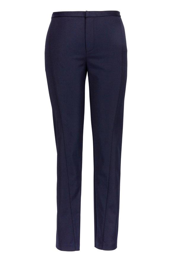 Colovos Black Stretch Cotton Pin-Tuck Pant