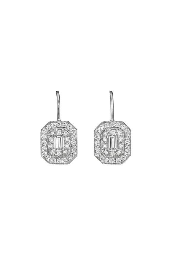Penny Preville 18K White Gold Diamond Earrings