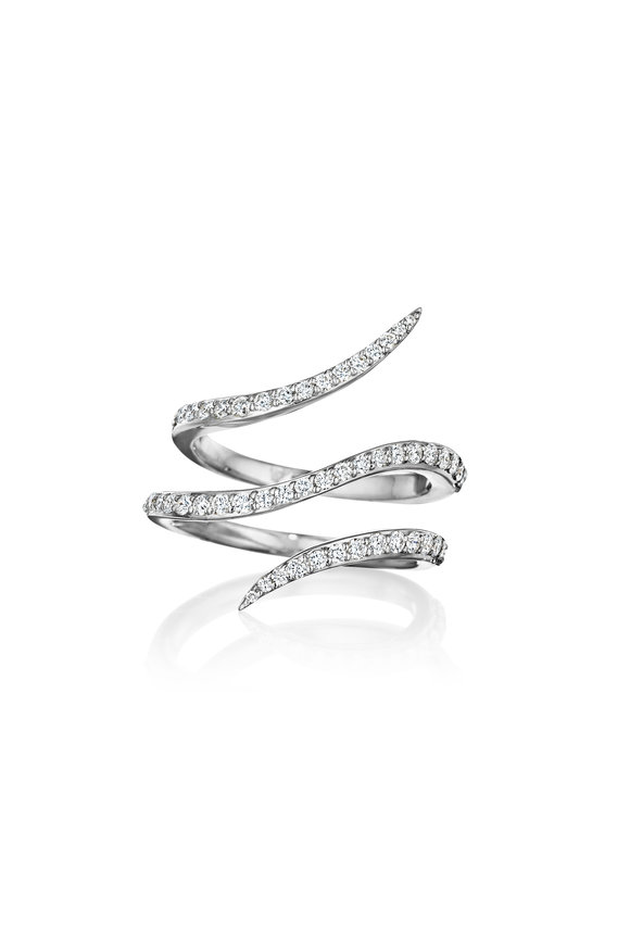 Penny Preville 18K White Gold Diamond Wrap Around Ring
