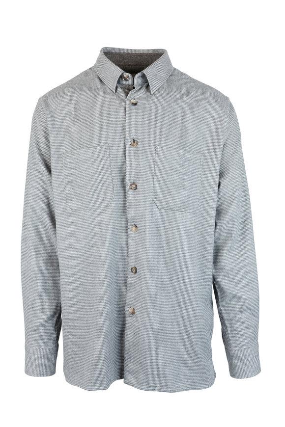 Luciano Barbera Gray Houndstooth Overshirt
