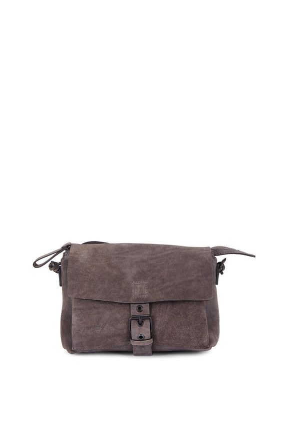 Marsell Tascauna Gray Suede Small Crossbody