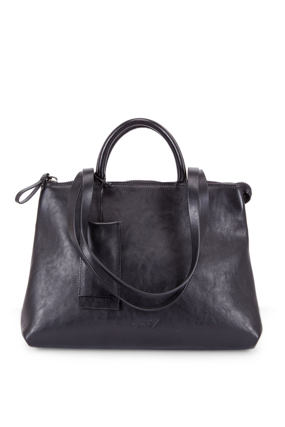 Marsell Dritta Black Leather Convertible Bag