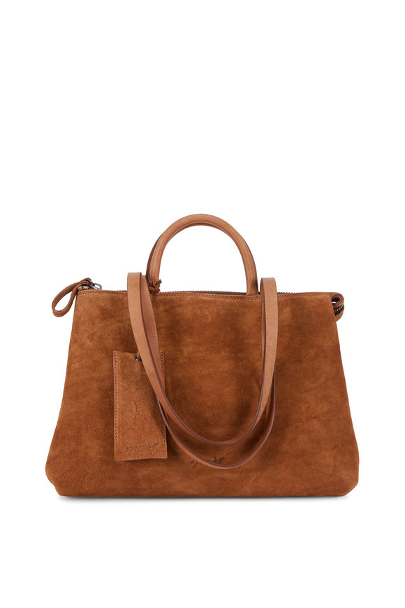 Marsell Dritta Walnut Suede Convertible Bag