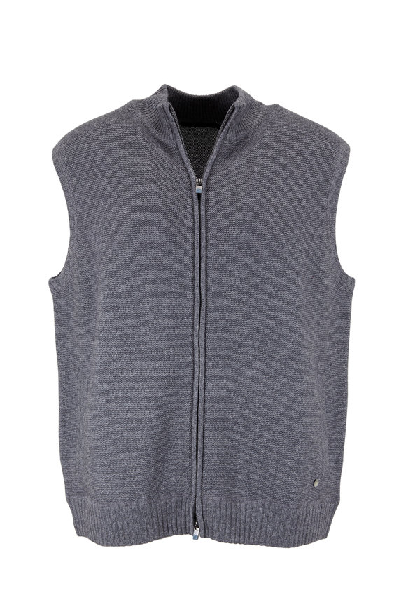Raffi  Charcoal Gray Wool & Cashmere Sweater Vest