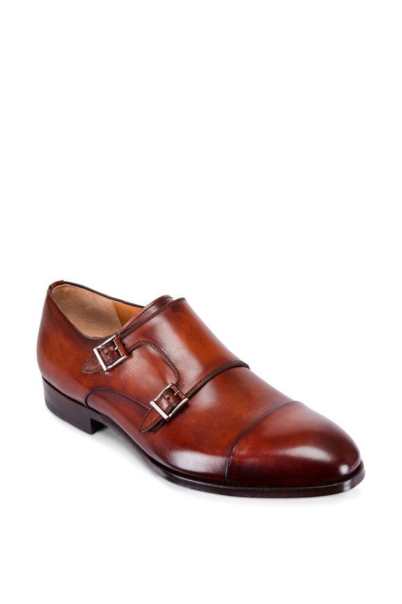 Magnanni Louie Cognac Leather Double Monk Shoe