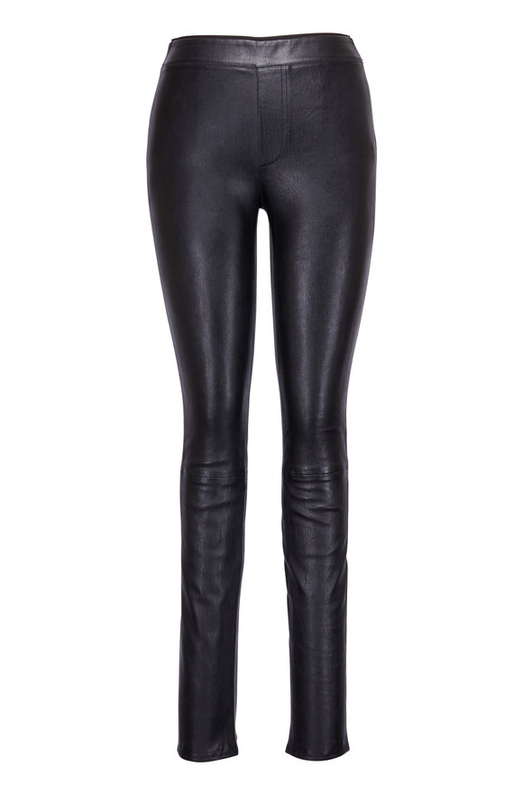 Helmut Lang Black Leather Legging