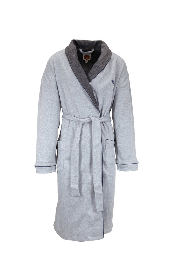 Majestic Light Gray Jersey Robe