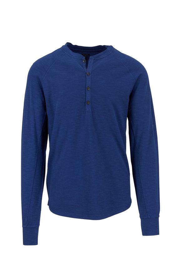 Good Man Brand Blue Soft Slub Henley