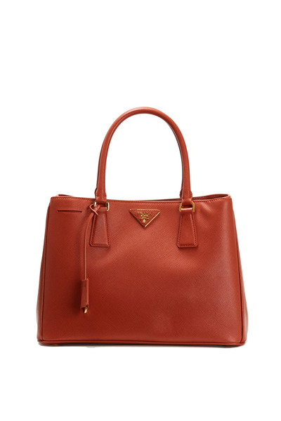 Prada - Dark Orange Saffiano Sport Small Tote