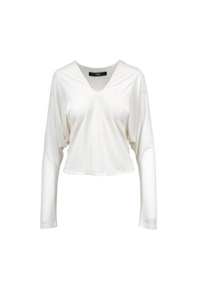 Norisol Ferrari - Steph Off-White U-Neck T-Shirt