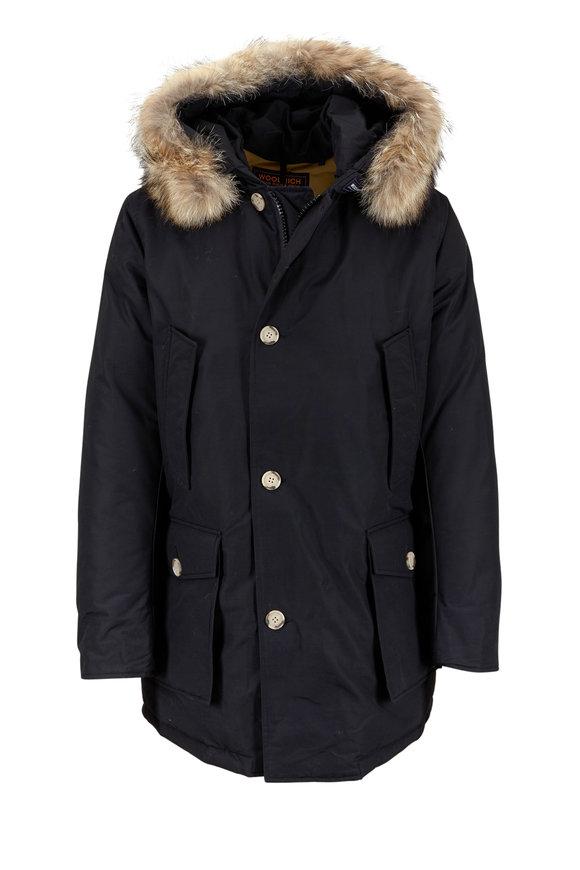 Woolrich Arctic Black Teflon Fur-Trim Hooded Parka