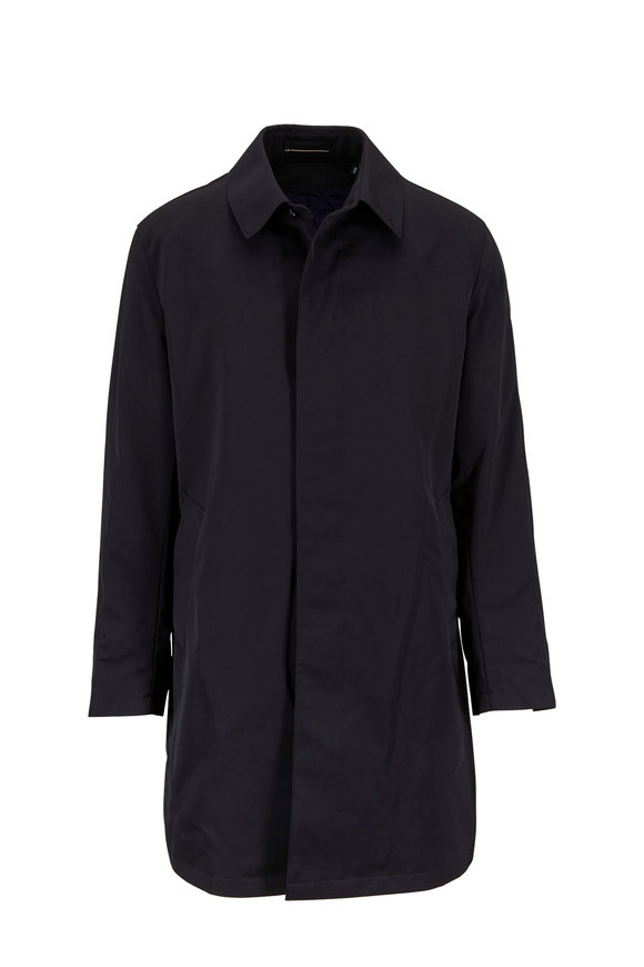 Sanyo Fashion House Leonard Black Micro Nylon Twill Trench Coat