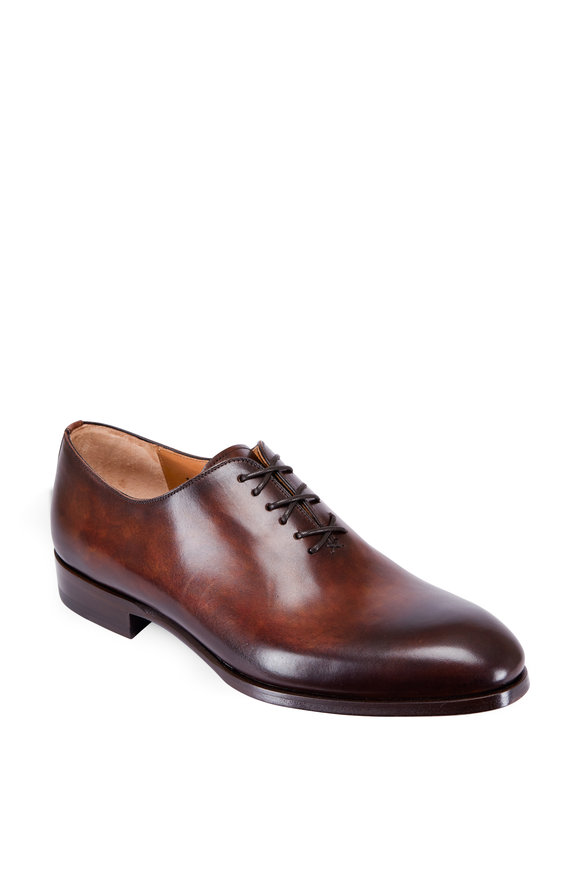 Magnanni Montay Tobacco Antiqued Leather Oxford