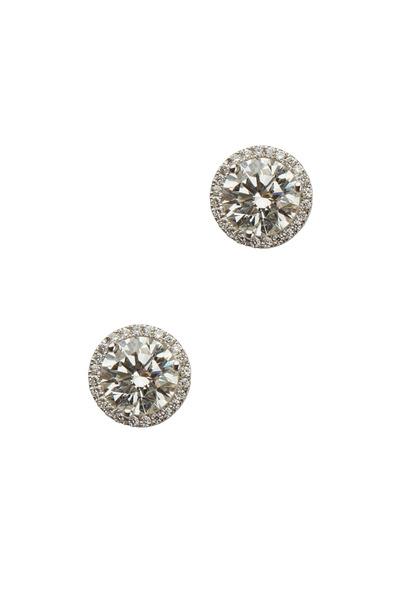 Louis Newman - White Diamond Stud Earrings