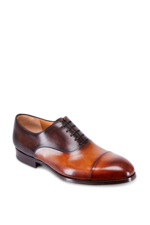 Magnanni Golay Brown & Tan Leather Cap-Toe Oxford